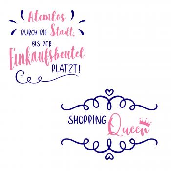 (v) Plotterdatei Shopping Sprüche von PlotterDesigns