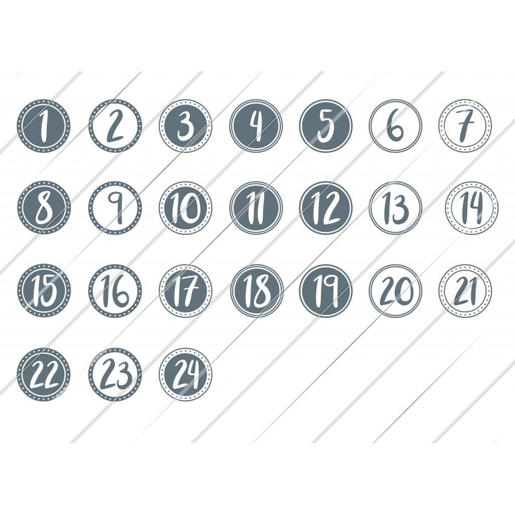 (v) Digistamps Adventskalender Zahlen