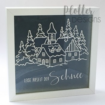 Plotterdatei Weihnachtsdorf