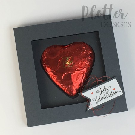 Plotterdatei Schokoladenherz Box mit 3 Sprüchen von PlotterDesigns