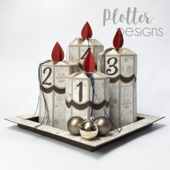 Plotterdatei 4er Kerzen...
